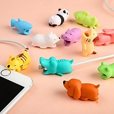 Protector de cable para el iPhone con forma de animalitos