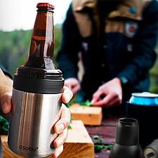 Termo para botellas y latas de cerveza