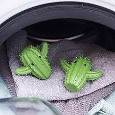 Bolas para la secadora con forma de cactus