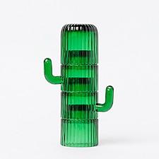 Juego de café de cristal con forma de cactus
