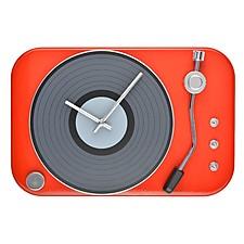 Reloj de pared con forma de tocadiscos retro