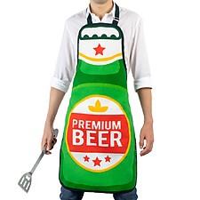 Delantal de cocina con forma de botella de cerveza