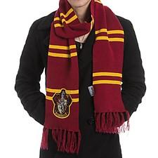 Bufanda de Harry Potter con el escudo de Gryffindor