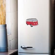 Salvamanteles magnético con forma de furgoneta hippie