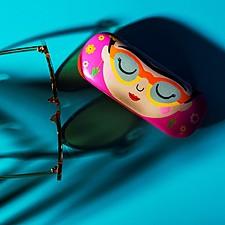 Funda para gafas con estampado de Frida Kahlo
