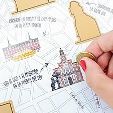 Mapa para rascar de Madrid
