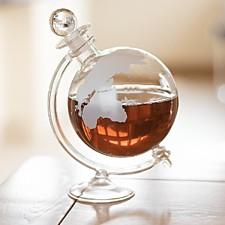 Licorera con forma de globo terráqueo