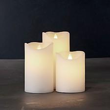 Juego de tres velas LED