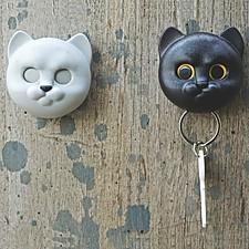 Colgador de llaves con forma de gatito