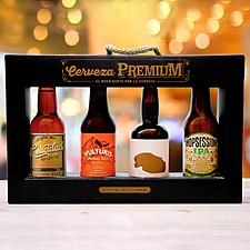 Estuche de regalo con cervezas artesanales españolas