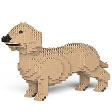 Juego para construir un dachshund con bloques