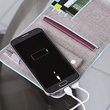 Funda para pasaporte y documentación con batería portátil