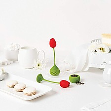Infusor de té con forma de tulipán