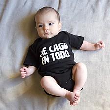 Body para bebé Me cago en todo
