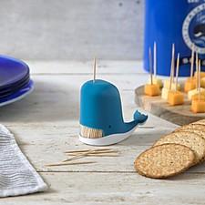 Dispensador de palillos con forma de ballena