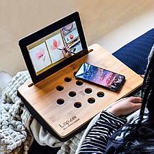Mesa para tablet de bambú
