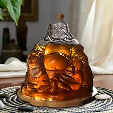Decantador con forma de Buda feliz