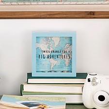 Hucha para viajeros con mapamundi retro