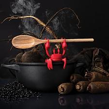 Soporte para cucharas de cocina con forma de cangrejo
