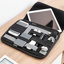 Funda para tablet con organizador de accesorios