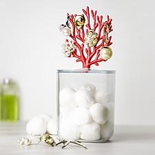 Contenedor de baño con coral