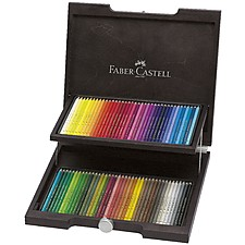 Estuche de madera con 72 lápices de colores Polychromos de Faber-Castell