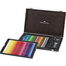 Estuche de madera con 48 lápices acuarelables Faber-Castell
