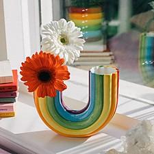 Jarrón con forma de arcoíris