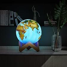 Lámpara con forma de planeta Tierra