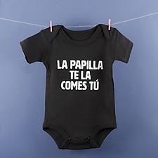 Body para bebé La papilla te la comes tú