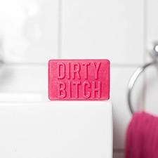 Pastilla de jabón con mensaje Dirty Bitch