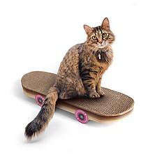 Rascador para gatos de cartón en forma de skate