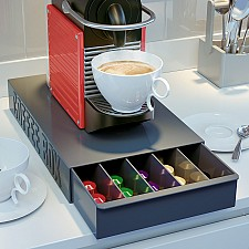 Caja para almacenar las cápsulas de café