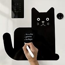 Pizarra nevera magnética gatito negro