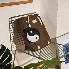 Mochila plegable con forma de yin y yang