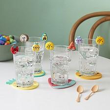 Marcadores de copas con forma de frutas de Mr.Wonderful