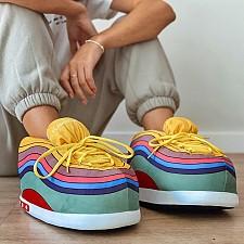 Zapatillas de andar por casa multicolores