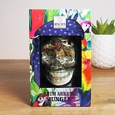 Vaso calavera con mezcla para cóctel Jungle