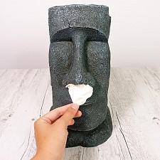 Soporte para caja de pañuelos Moai