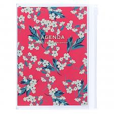 Agenda A5 2022 de diseño floral japonés