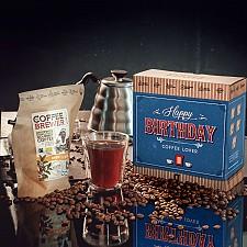 Caja de café para regalar en un cumpleaños