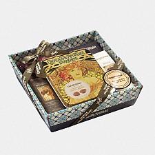 Cesta Carteles Amatller con cinco tipos de chocolate