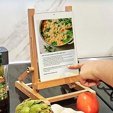 Soporte para tablet de madera caballete
