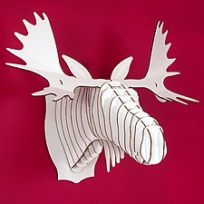 'Fred Jr', Medium Cardboard Moose Trophy
