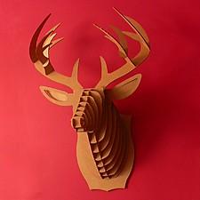 Cabeza de Ciervo de Cartón Mediana Buck Jr