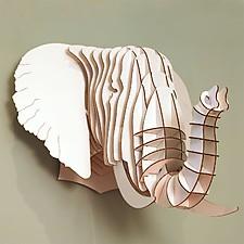 """Cabeza de Elefante de Cartón Grande """"Eyan"""""""