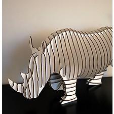 """Rinoceronte de Cartón """"Robbie"""""""