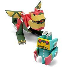 """Robots de Papel Ron y Little-G de """"Piperoid"""""""