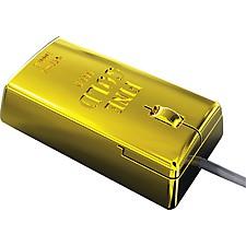 Ratón Óptico Lingote de Oro