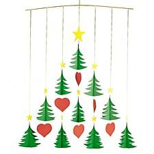 Móvil Árboles de Navidad